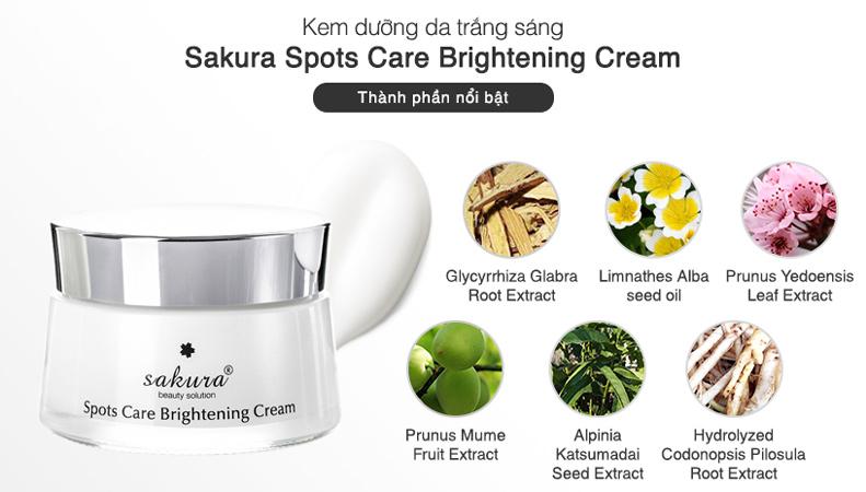 Kem Dưỡng da nhật bản Sakura Spots Care Brightening Cream